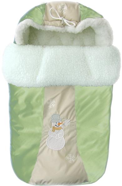 Конверт меховой из серии Снежинка, зеленыйЗимние конверты<br>Конверт меховой из серии Снежинка, зеленый<br>
