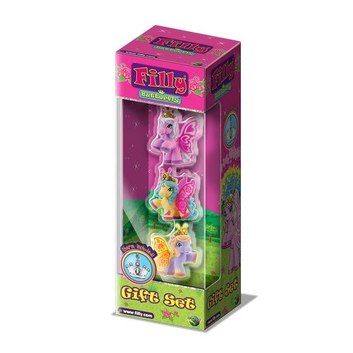 Набор игровой «Filly»  Бабочки с блестками, 3 фигурки с аксессуарами - Лошадки Филли Filly Princess, артикул: 126291