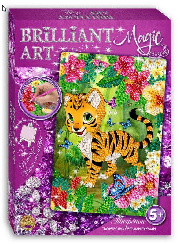 Мозаика со стразами Magic Crystal Тигрёнок по цене 286