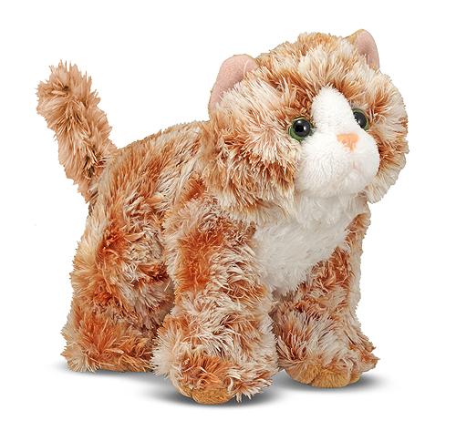 Мягкая игрушка «Рыжий кот Трикси», 13 см. - Коты, артикул: 138716