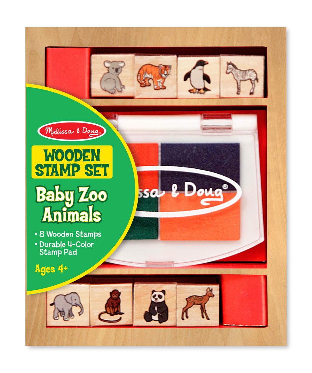 Купить Набор печатей «Животные зоопарка» из серии Творчество , Melissa&Doug