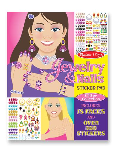 Набор стикеров – Мода - ювелирные украшения и ногти из серии ТворчествоНаклейки<br>Набор стикеров – Мода - ювелирные украшения и ногти из серии Творчество<br>