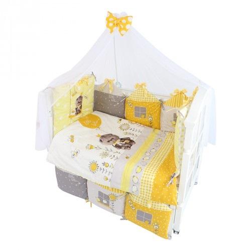 Комплект в кроватку – Basik Village, 7 предметовДетское постельное белье<br>Комплект в кроватку – Basik Village, 7 предметов<br>