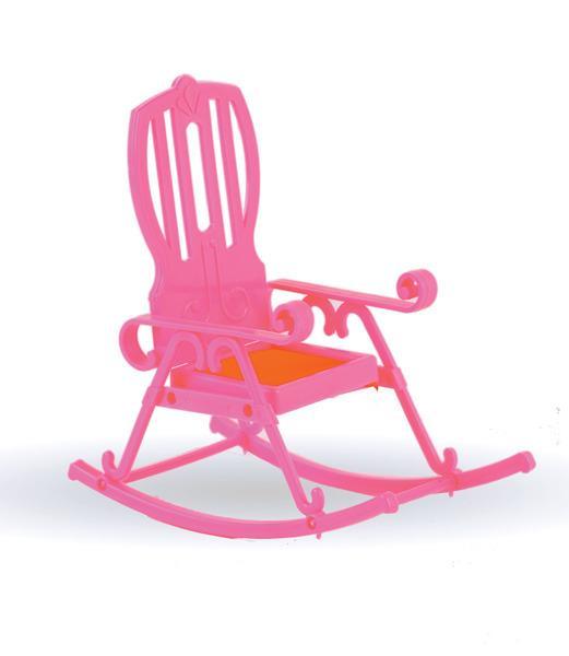 Розовое кресло-качалкаКукольные домики<br>Розовое кресло-качалка<br>