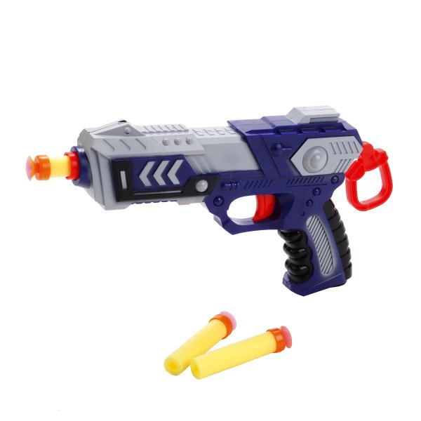 Бластер с мягкими пулямиАвтоматы, пистолеты, бластеры<br>Бластер с мягкими пулями<br>