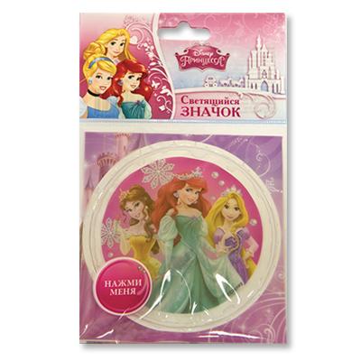 Значок светодиодный – Disney. ПринцессыПринцессы Дисней<br>Значок светодиодный – Disney. Принцессы<br>