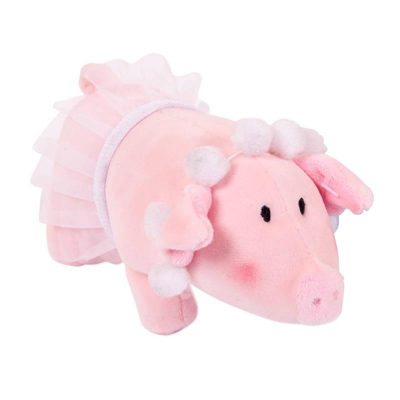 Купить Свинка с бусами в юбке-пачке, 15 см, Chuzhou Greenery Toys Co
