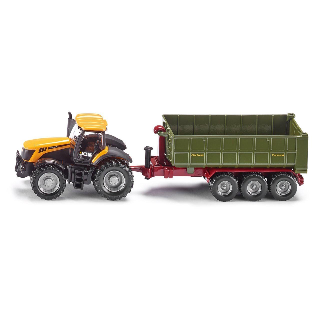 Купить Игрушечная модель - Трактор с прицепом-кузовом, желтый, 1:87, Siku