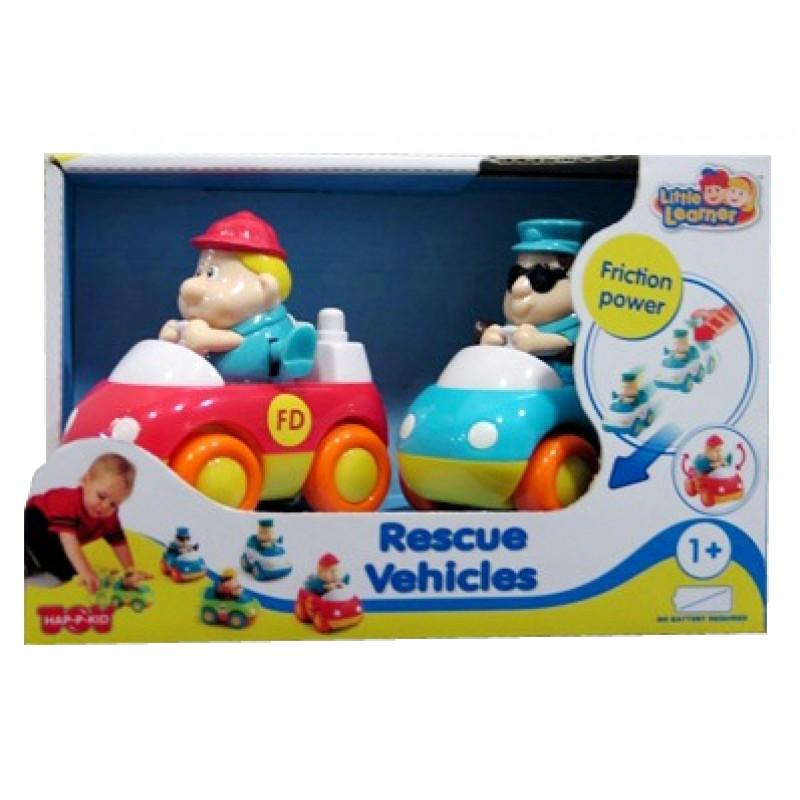 Набор из 2 спасательных машинок: пожарная и скорая помощьМашинки для малышей<br>Набор из 2 спасательных машинок: пожарная и скорая помощь<br>