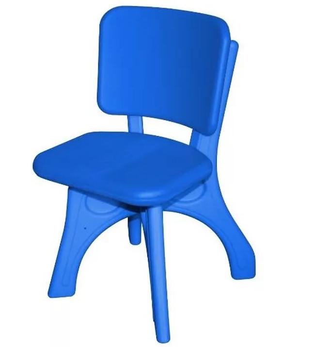 Купить Детский пластиковый стул – Дейзи, синий, King Kids