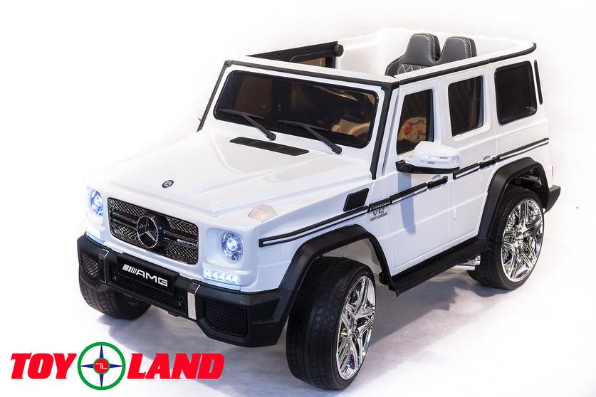 Купить Электромобиль Mercedes Benz G65, белого цвета, ToyLand