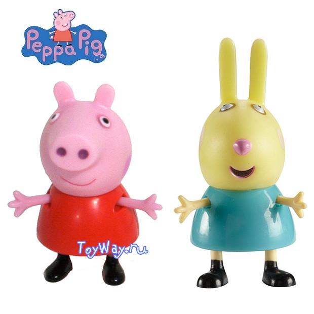Peppa Pig. Набор Пеппа и ее друзья Пеппа и Кролик РебеккаСвинка Пеппа (Peppa Pig )<br>Peppa Pig. Набор Пеппа и ее друзья Пеппа и Кролик Ребекка<br>
