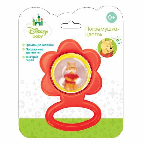 Погремушка-цветок Винни-Пух с фигуркойДетские погремушки и подвесные игрушки на кроватку<br>Погремушка-цветок Винни-Пух с фигуркой<br>