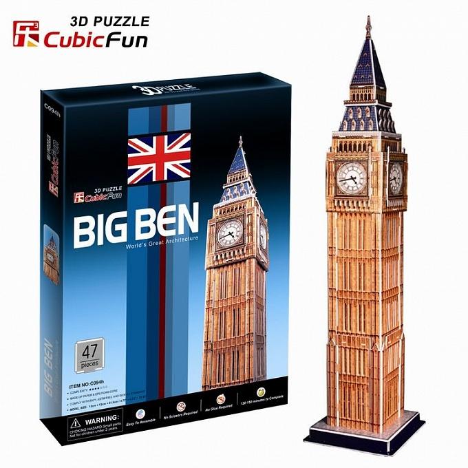 3D puzzles. Объёмный пазл Лондон Биг БенПазлы объёмные 3D<br>3D puzzles. Объёмный пазл Лондон Биг Бен<br>