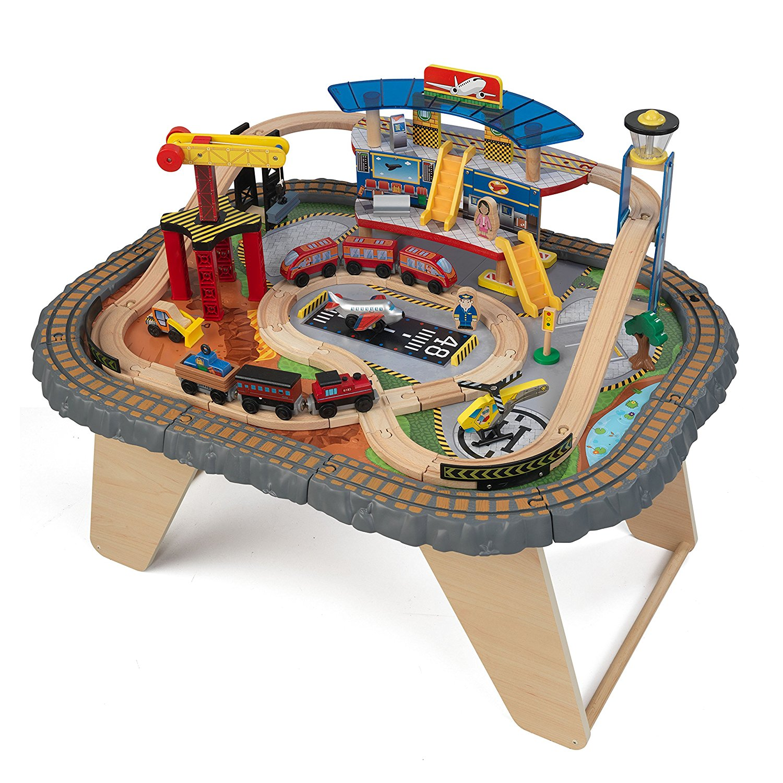 Игровой набор - Транспортный Хаб, 58 элементов, столДетская железная дорога<br>Игровой набор - Транспортный Хаб, 58 элементов, стол<br>