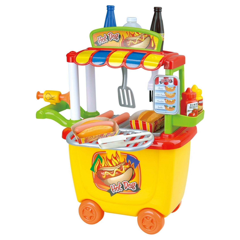 Игровой набор – Закусочная с тележкойДетская игрушка Касса. Магазин. Супермаркет<br>Игровой набор – Закусочная с тележкой<br>