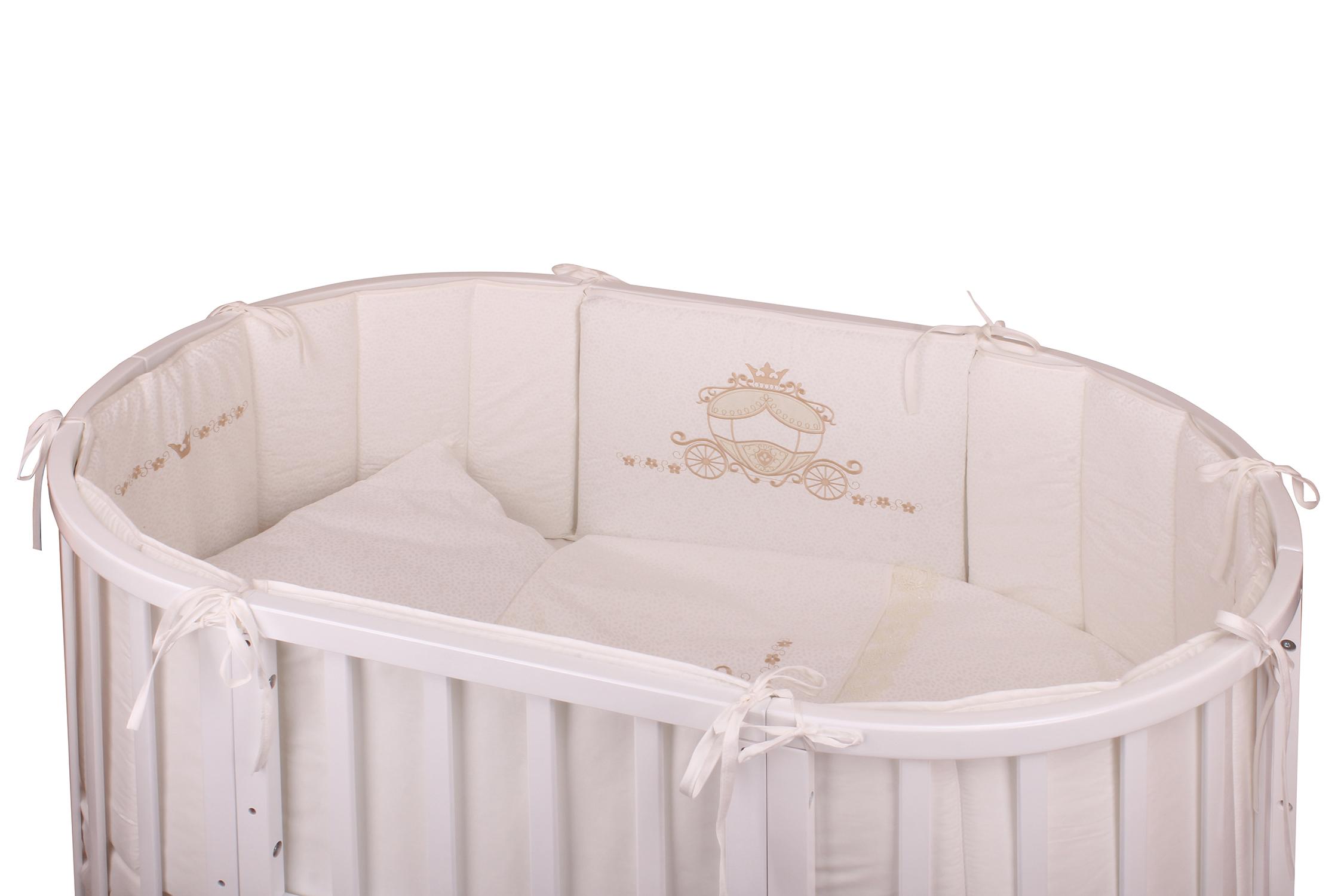 Комплект в кроватку - Prestigio Atlante, 6 предметов, rosaДетское постельное белье<br>Комплект в кроватку - Prestigio Atlante, 6 предметов, rosa<br>