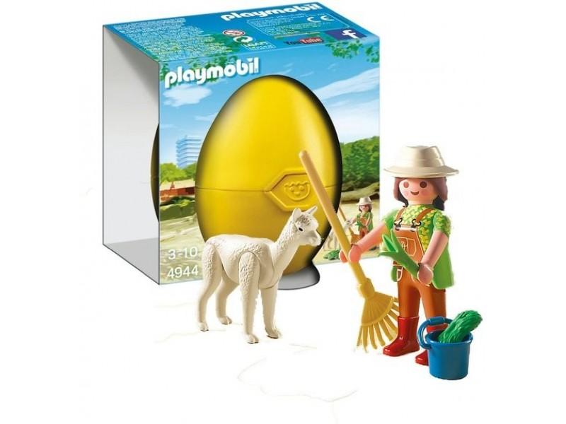 Купить Игровой набор Яйцо - Смотритель зоопарка с Альпаком, Playmobil