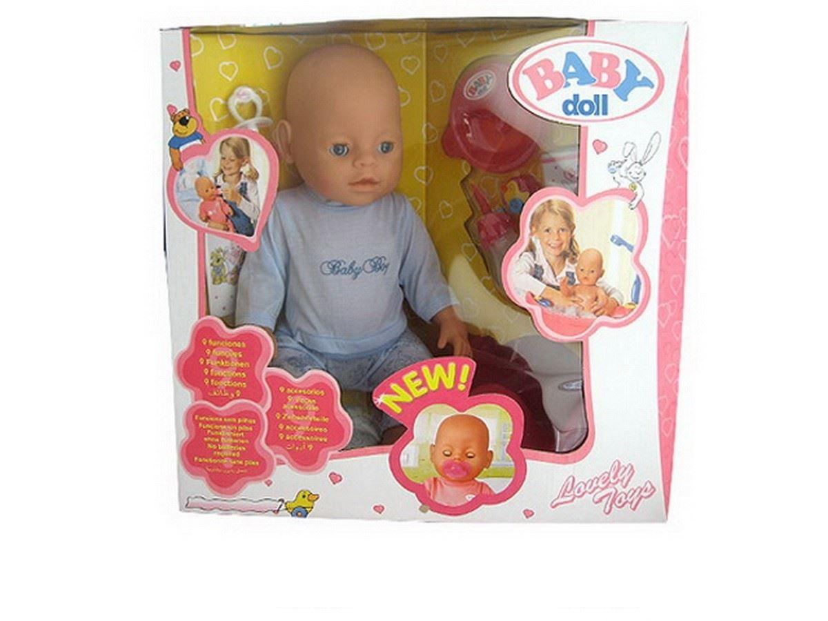 Купить Пупс Baby Dolls, 43 см с аксессуарами, пьет и писает, закрывает глаза