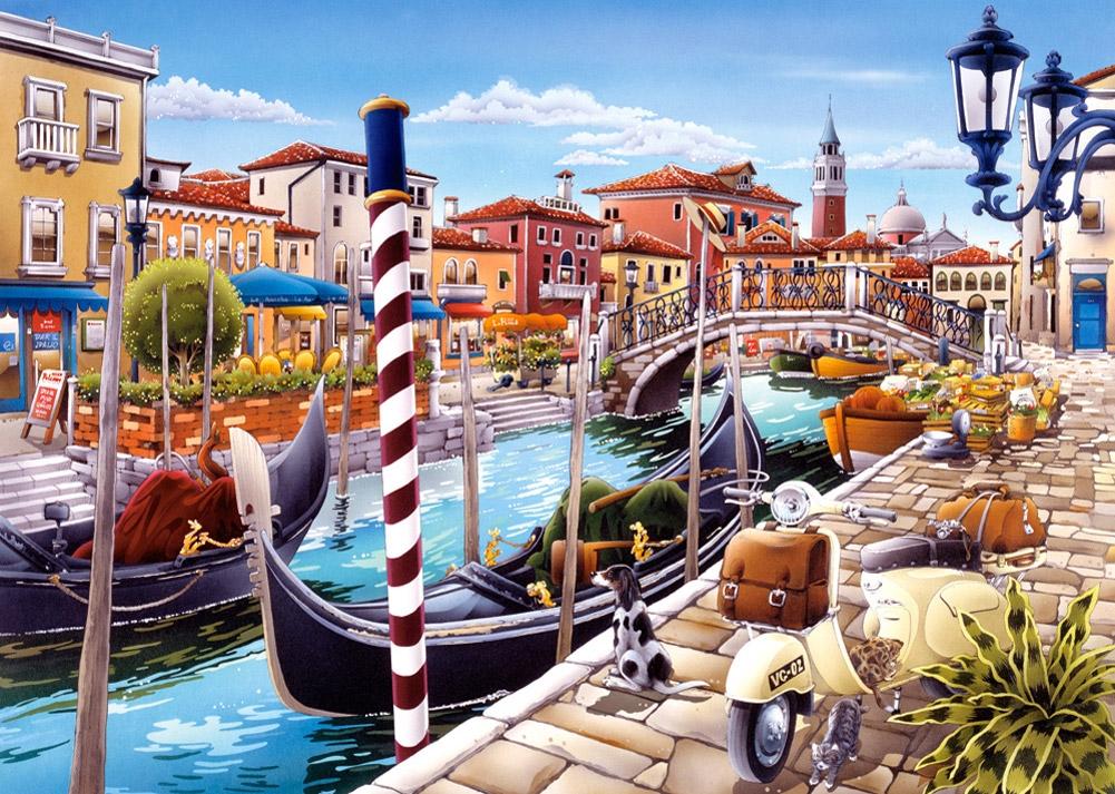 Пазл Венецианский канал, 1000 элементовПазлы 1000 элементов<br>Пазл Венецианский канал, 1000 элементов<br>