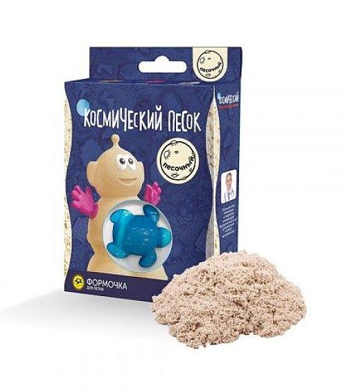 Набор - Космический песок - Пластичный, песочный с формочкой, 0,15 кгКинетический песок<br>Набор - Космический песок - Пластичный, песочный с формочкой, 0,15 кг<br>