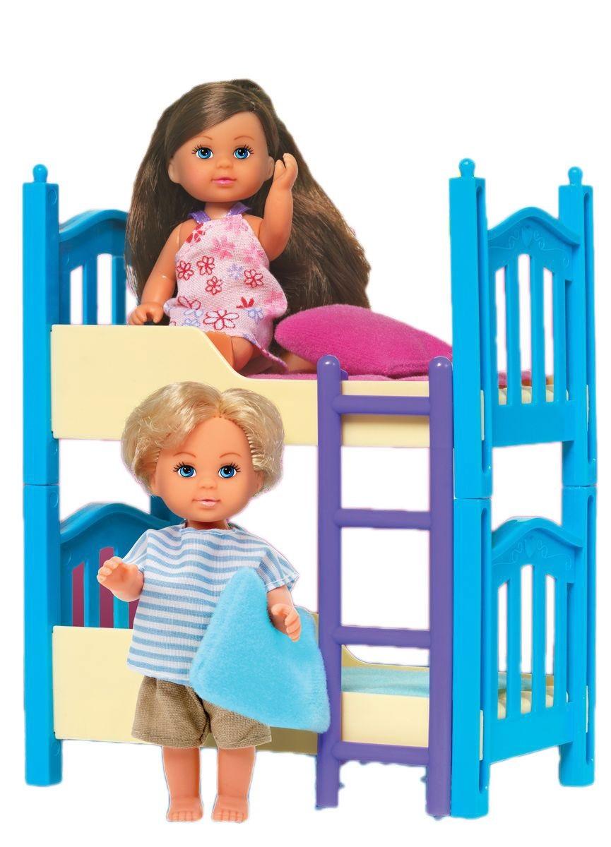 Кукла Еви и братик, с двухъярусной кроваткой, 12 см.Куклы Еви<br>Кукла Еви и братик, с двухъярусной кроваткой, 12 см.<br>