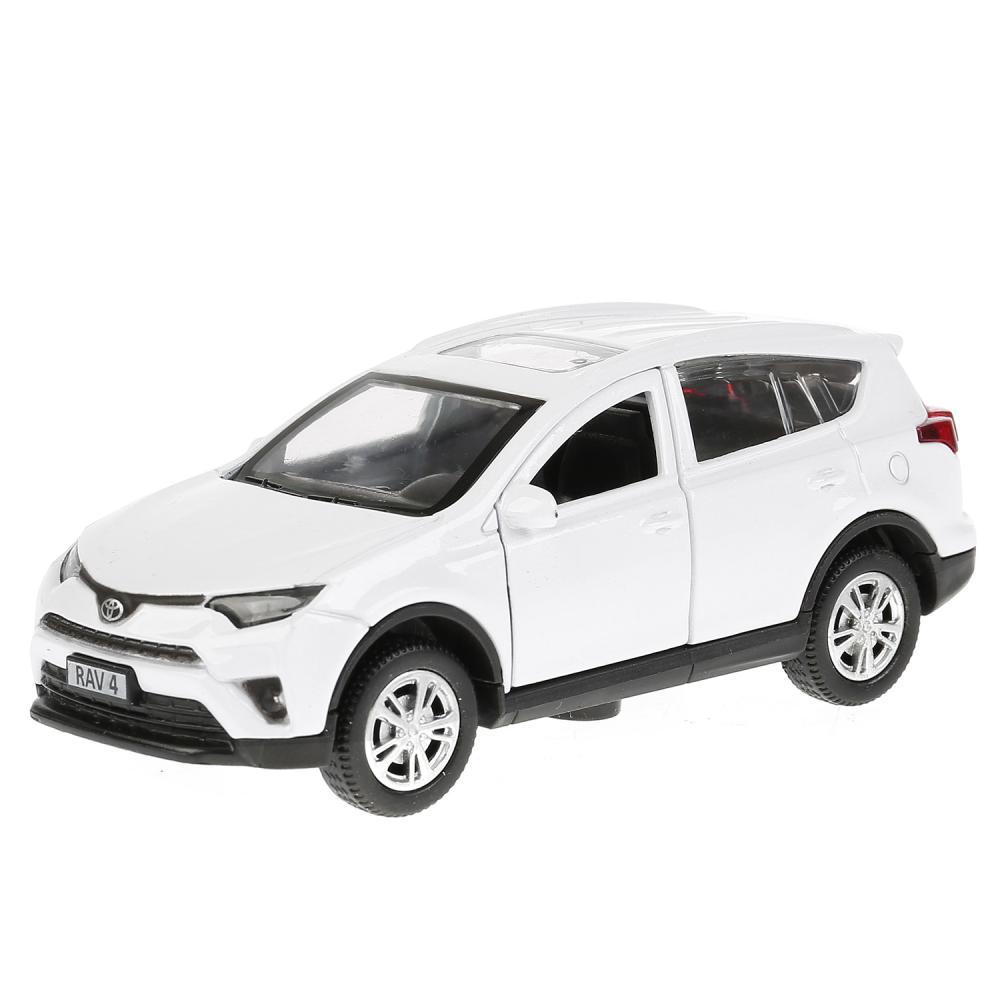 Купить Инерционная металлическая машина - Toyota Rav4, длина 12 см, цвет белый, открываются двери, Технопарк