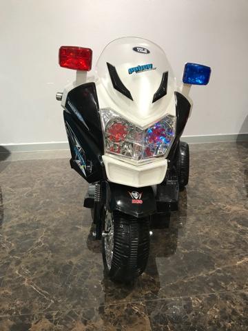 Купить Электромотоцикл – Moto Police. Черно-белый, ToyLand