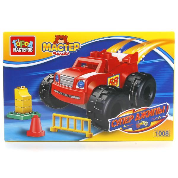Конструктор из серии Большие кубики: Супер ДжипыГород мастеров<br>Конструктор из серии Большие кубики: Супер Джипы<br>