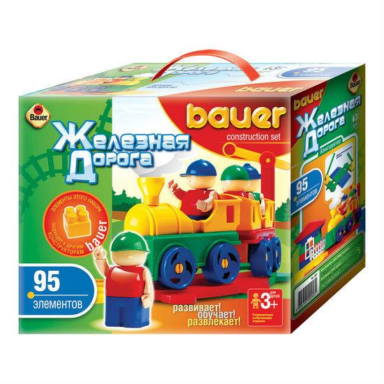 Конструктор из серии «Железная дорога», 95 элемента - Конструкторы Bauer Кроха (для малышей), артикул: 127397