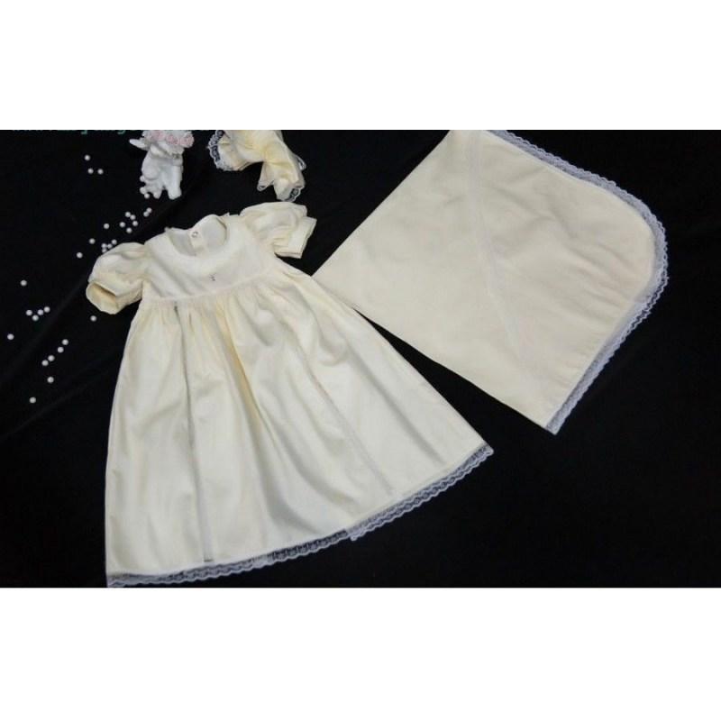Крестильный набор для девочки  Счастье, шампань - Одежда для детей, артикул: 171040