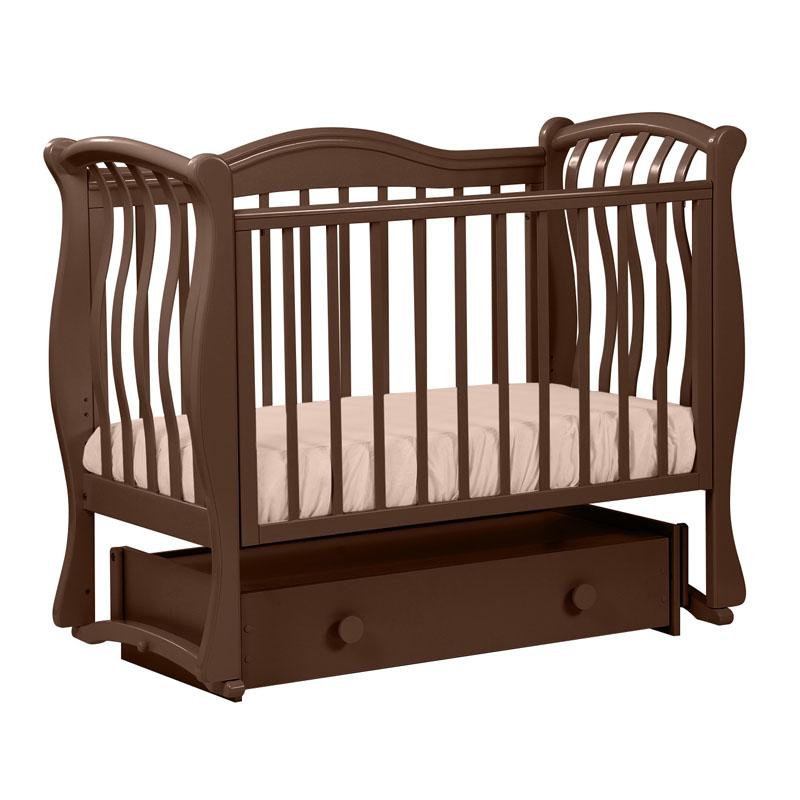 Кровать детская Лель БИ 08.4 Маргаритка маятник универсальный, темный орех