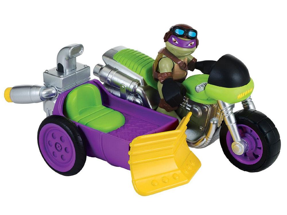Купить Фигурка Черепашки-ниндзя Донни с мотоциклом, серия Half Shell Hero, Playmates