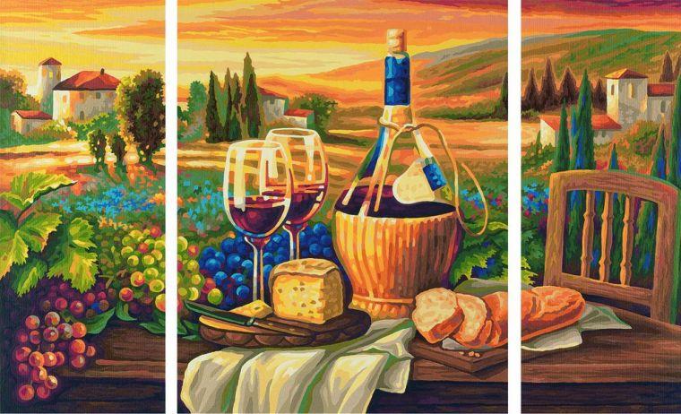 Триптих Сладкая жизнь, 50х80 смРаскраски по номерам Schipper<br><br>