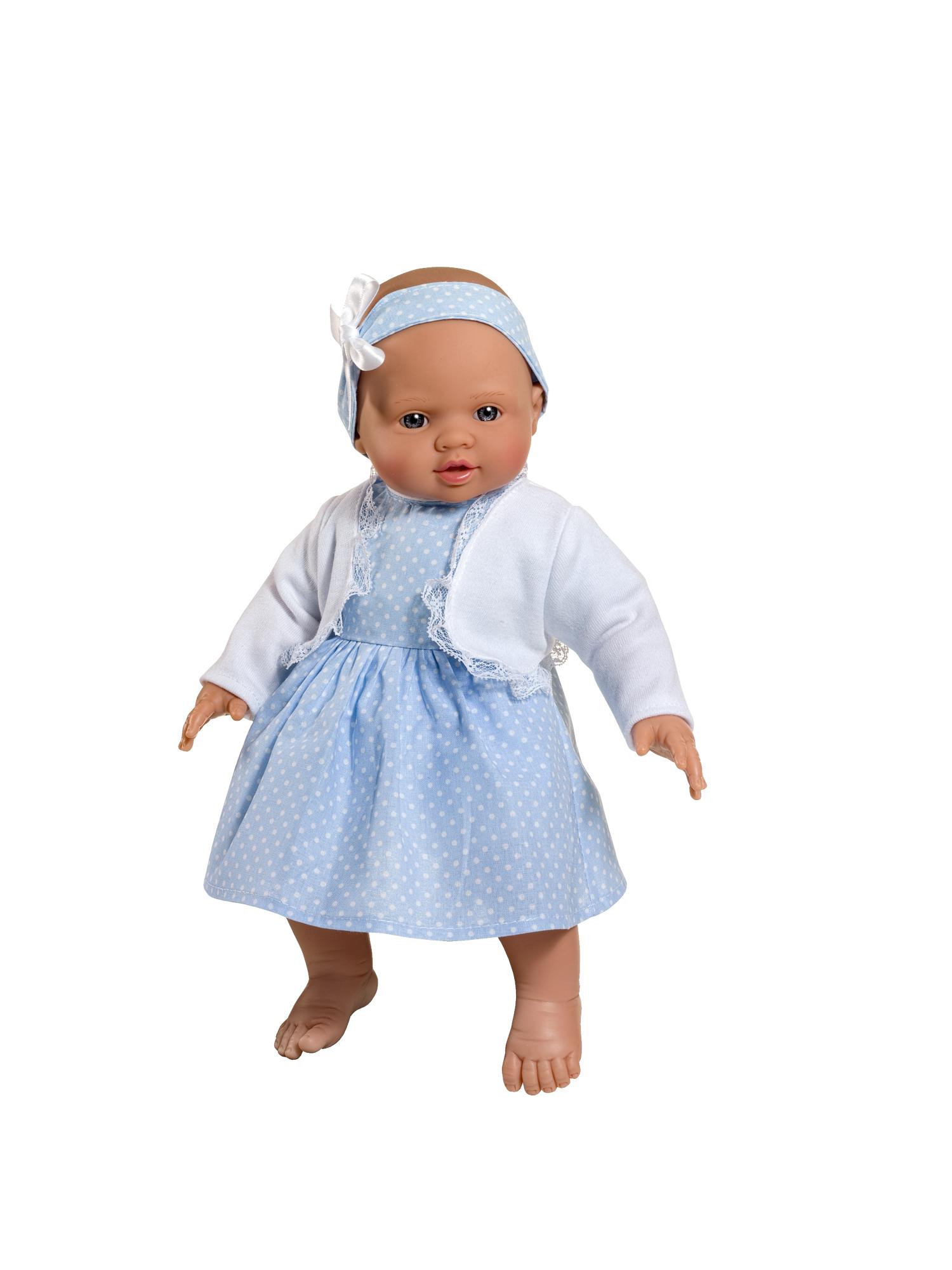 Кукла Popo в голубом платьице, 36 см.Куклы ASI (Испания)<br>Кукла Popo в голубом платьице, 36 см.<br>