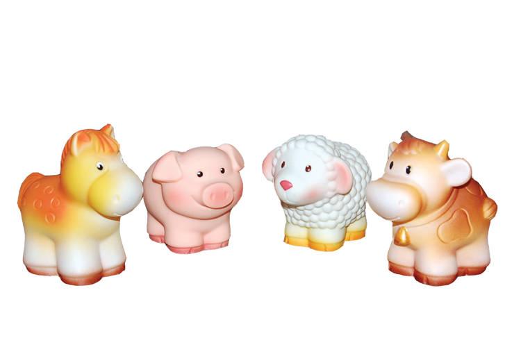 Купить Набор фигурок из пластизоля - Домашние животные, пвх, Огонек