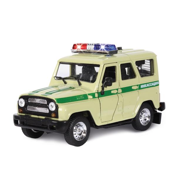 Машина металлическая инерционная - УАЗ - Инкассация с сиреной и мигалкамиУАЗ<br>Машина металлическая инерционная - УАЗ - Инкассация с сиреной и мигалками<br>