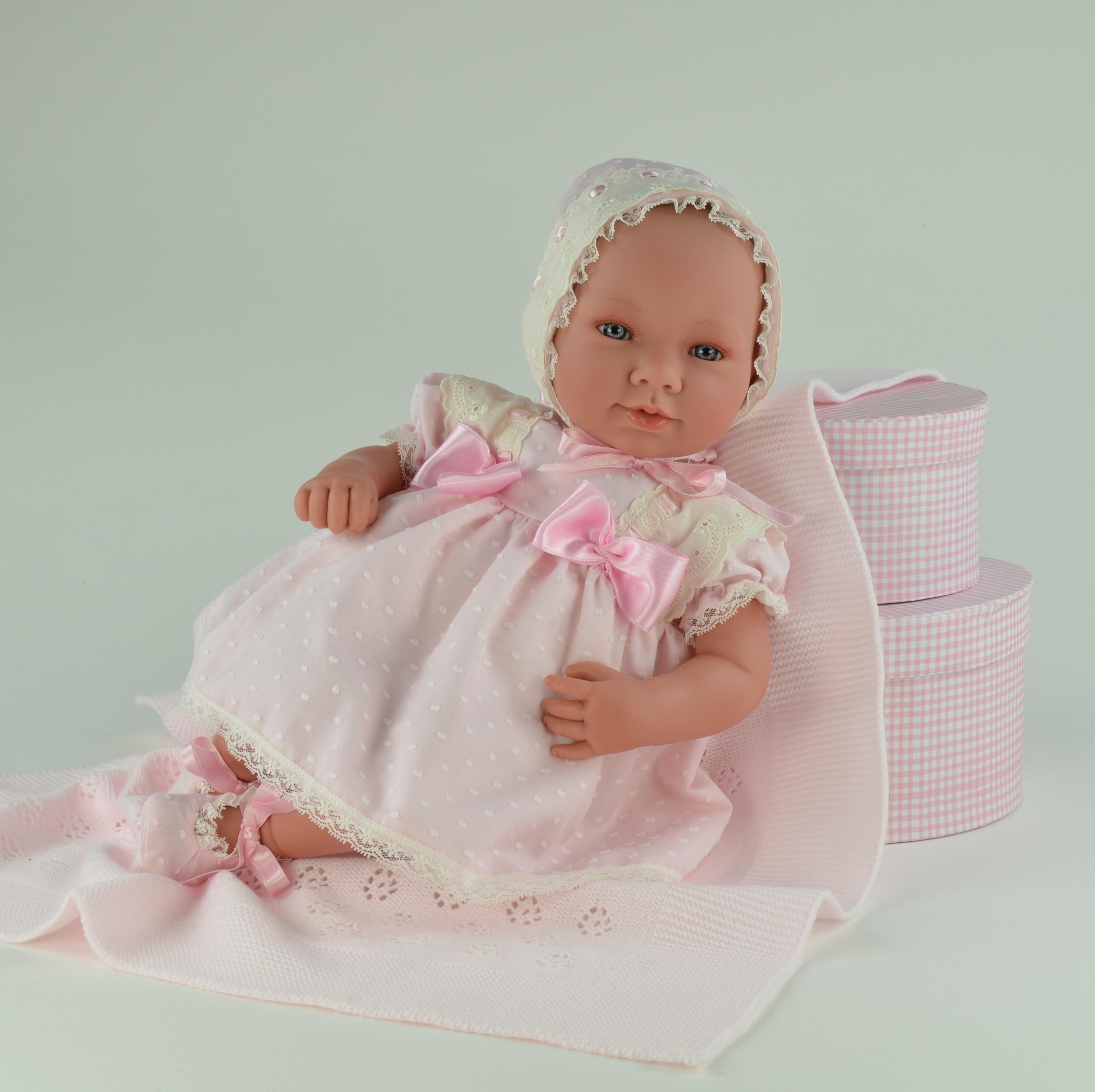 Кукла Аня в розовом платьице, 50 см.Куклы ASI (Испания)<br>Кукла Аня в розовом платьице, 50 см.<br>