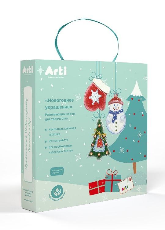 Купить Набор из 3-х глиняных фигурок - Новогоднее украшение, Arti