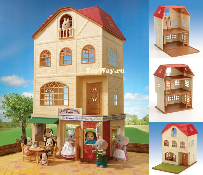 Трехэтажный дом для жителей Sylvanian FamiliesКукольные домики<br>Трехэтажный дом для жителей Sylvanian Families<br>