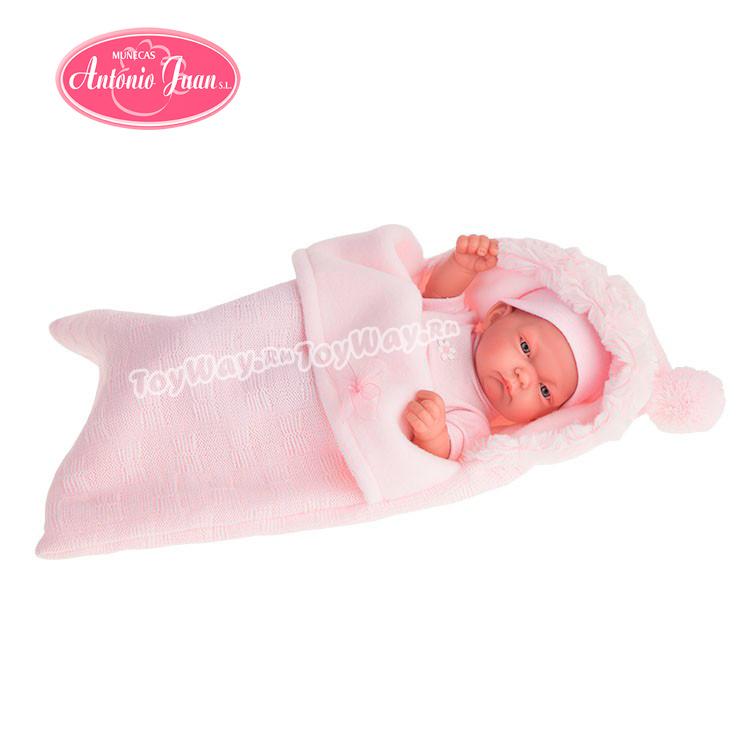 Кукла-младенец Карла в конверте, розовый, 26 см.Куклы Антонио Хуан (Antonio Juan Munecas)<br>Кукла-младенец Карла в конверте, розовый, 26 см.<br>
