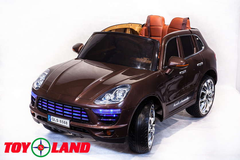Электромобиль Porsche Macan коричневого цветаЭлектромобили, детские машины на аккумуляторе<br>Электромобиль Porsche Macan коричневого цвета<br>