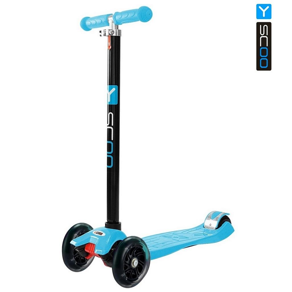 Самокат RT Maxi Shine A20 blue с 4-мя светящимися колесамиТрехколесные самокаты<br>Самокат RT Maxi Shine A20 blue с 4-мя светящимися колесами<br>