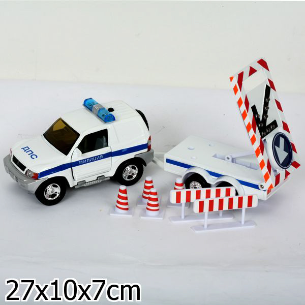 Джип ДПС с универсальным прицепом, свет, звукПолицейские машины<br>Джип ДПС с универсальным прицепом, свет, звук<br>