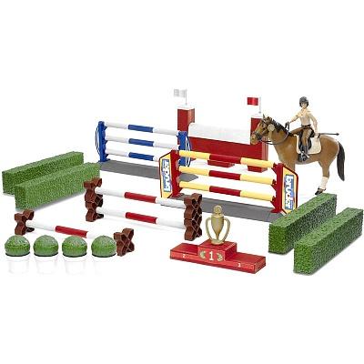 Игровой набор для скачек с лошадью и фигуркой всадницы - Игрушки Bruder, артикул: 83303
