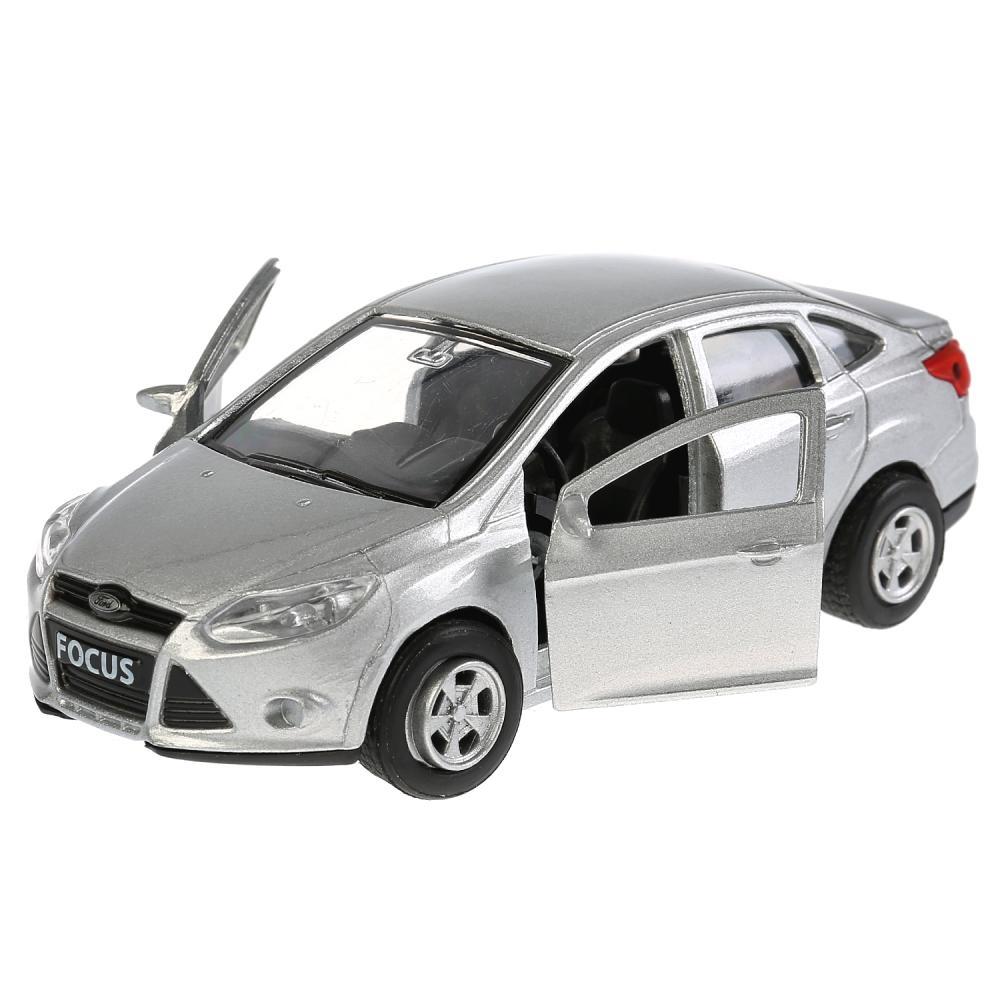 Купить Инерционная металлическая машина - Ford Focus, серебристый, 12 см, открываются двери -WB), Технопарк