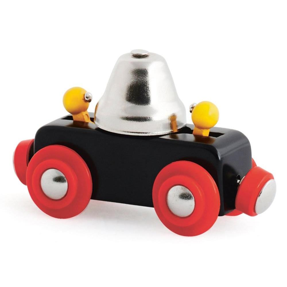 Вагончик с сигнальным колокольчиком звонит при движении.