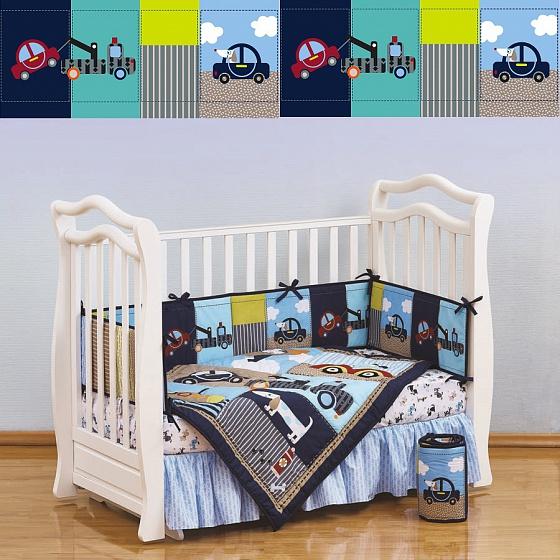 Набор постельного белья для новорожденных Transportation, 7 предметовДетское постельное белье<br>Набор постельного белья для новорожденных Transportation, 7 предметов<br>
