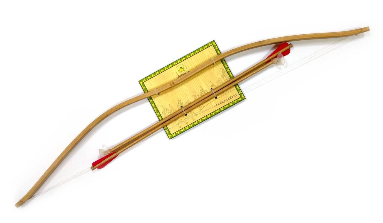 Купить Игровой набор: деревянный лук и стрелы, ручная работа, ЯиГрушка