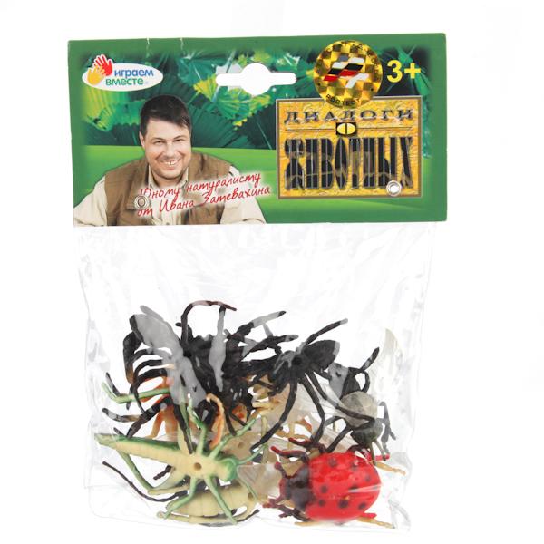 Набор из 12 насекомых, 5 см.Лесная жизнь (Woodland)<br>Набор из 12 насекомых, 5 см.<br>